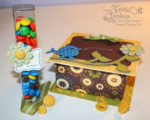 Box and treats with watermark - a