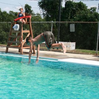Alex diving of board